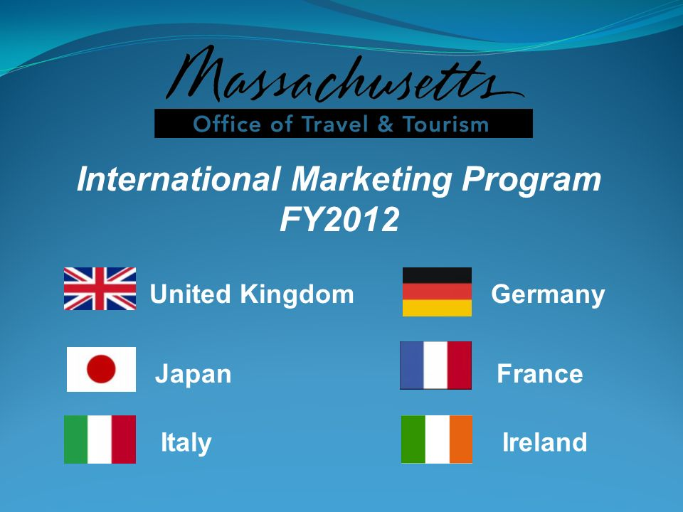 International Marketing Program FY2012 United KingdomGermany JapanFrance ItalyIreland