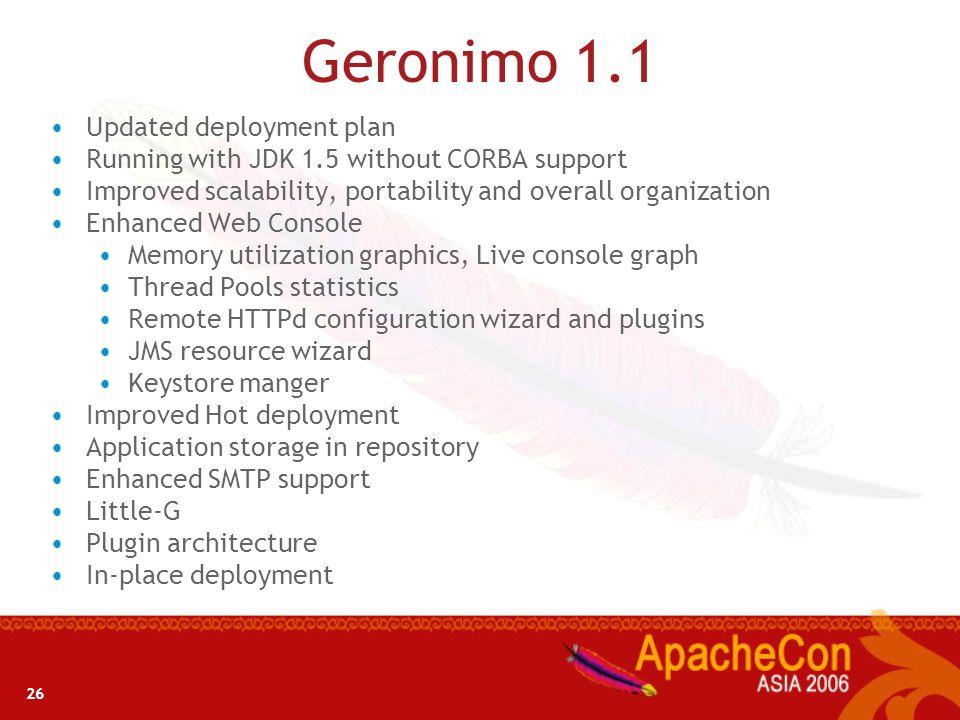 25 Geronimo 1.1 – Whats New?