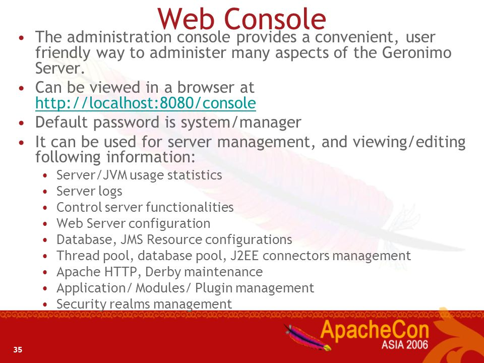 34 Administration and Configuration