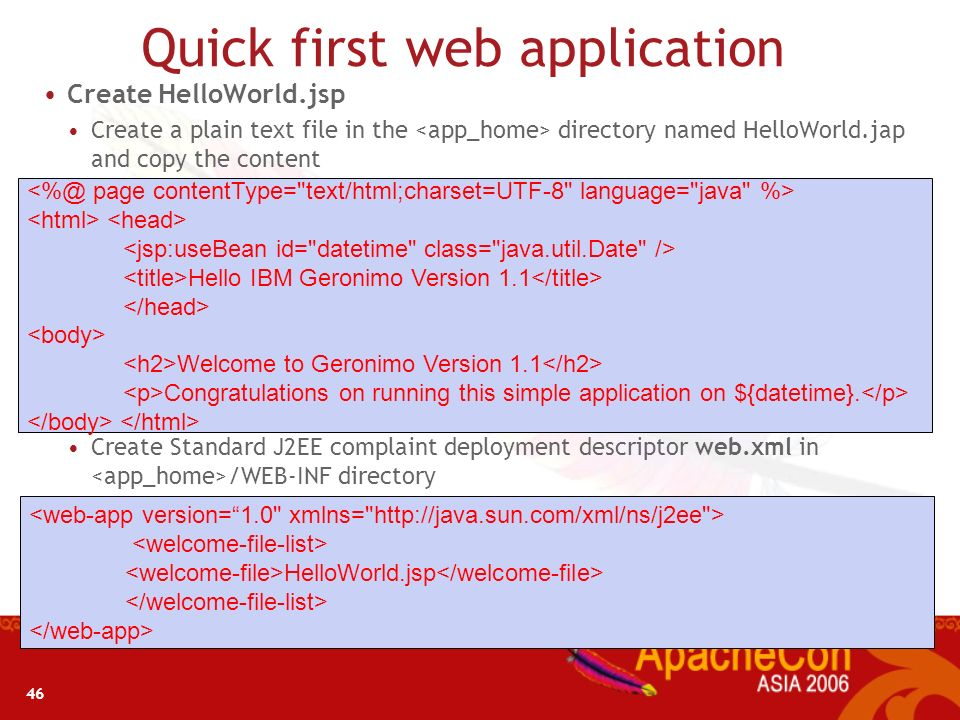 45 Quick Application Development