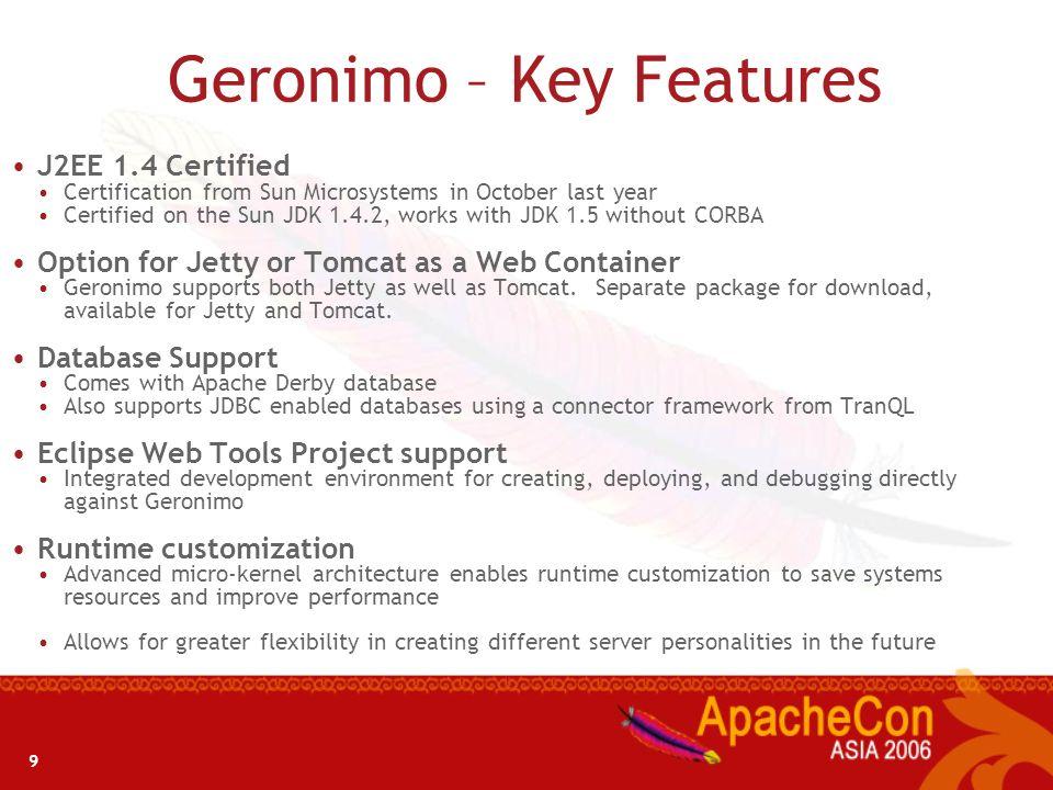 8 Why Geronimo?