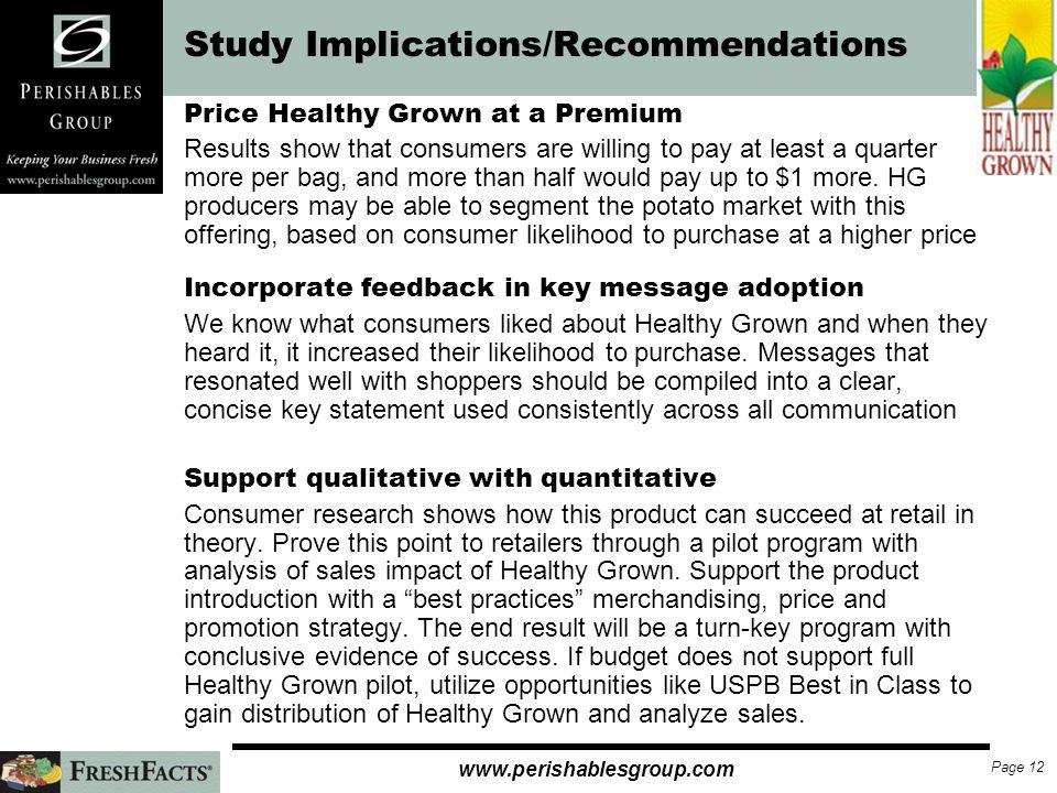 Study Implications