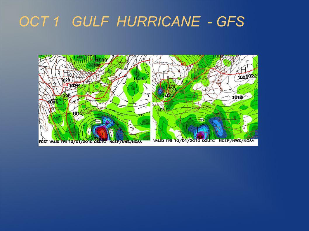 OCT 1 GULF HURRICANE - GFS