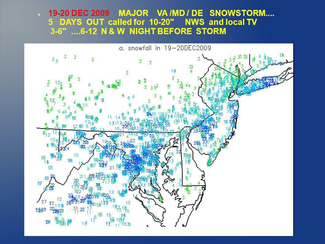 19-20 DEC 2009 MAJOR VA /MD / DE SNOWSTORM....