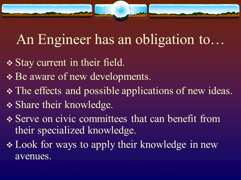 Engineers, on the other hand… Since there is not seen the same compelling social need on the part of the indigent for design services, Engineers will