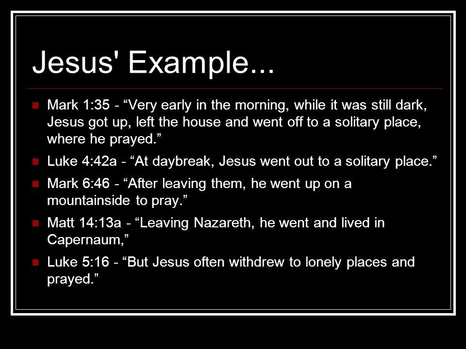 Jesus Example...