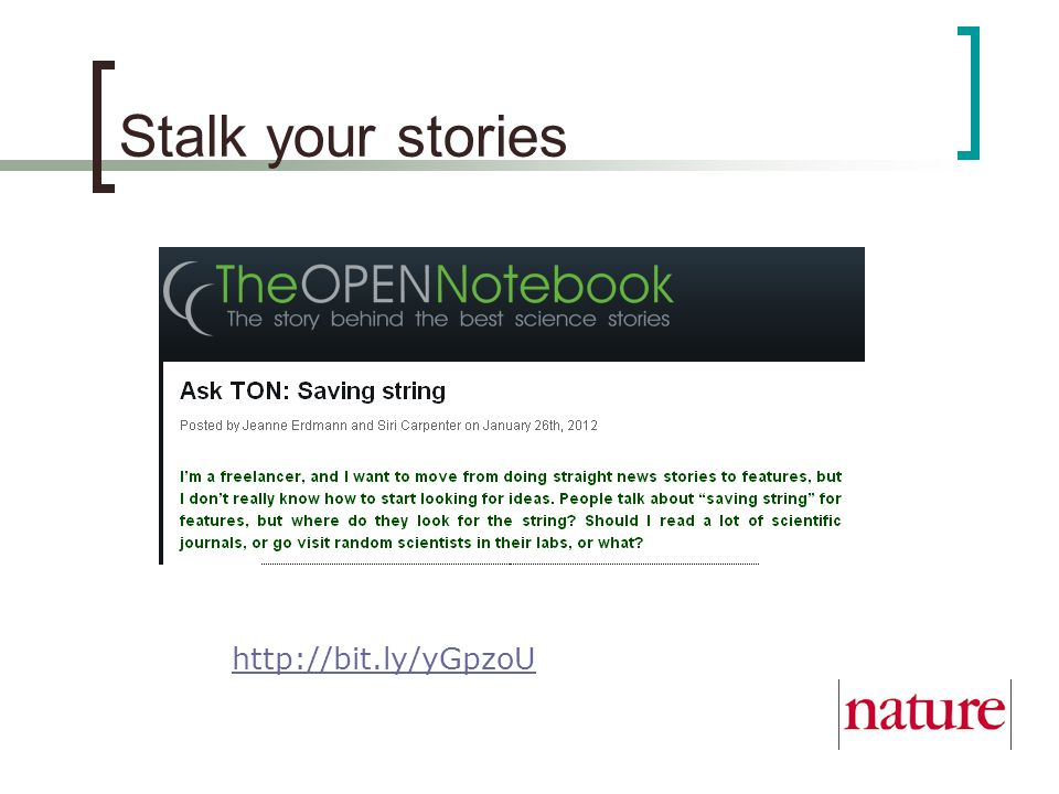 Stalk your stories http://bit.ly/yGpzoU