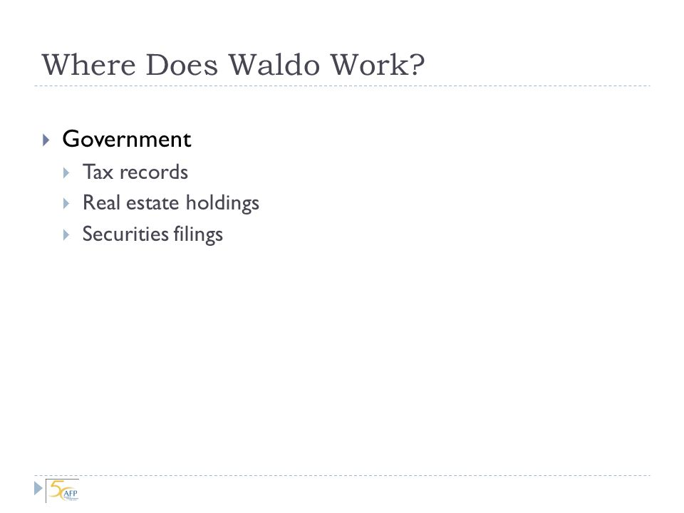 Where Does Waldo Work.