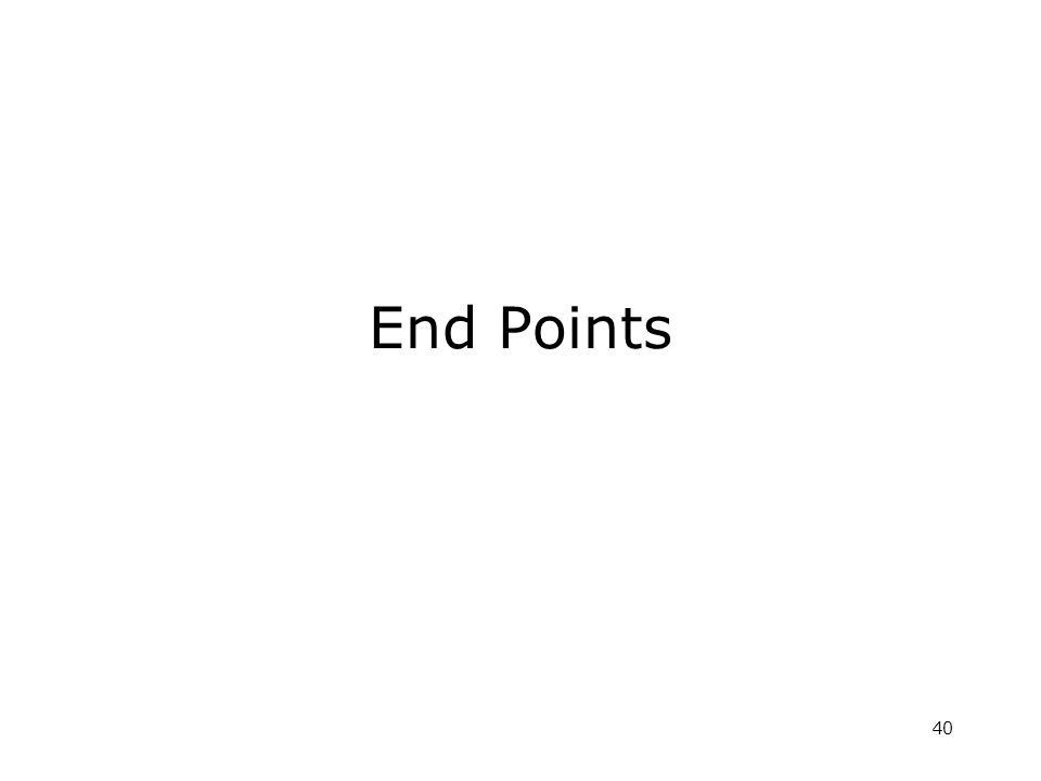 40 End Points