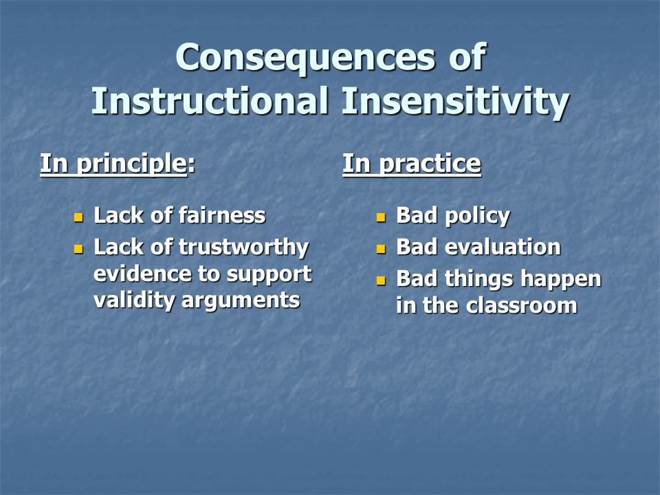 Old and New Model Instructional Sensitivity A = Non-Learning B = Learning C = Slip D = Maintain A = True Fail B = False Pass C = False Fail D = True Pass