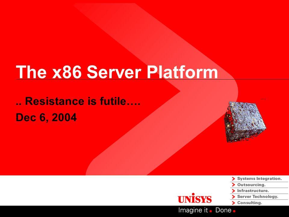 The x86 Server Platform.. Resistance is futile…. Dec 6, 2004
