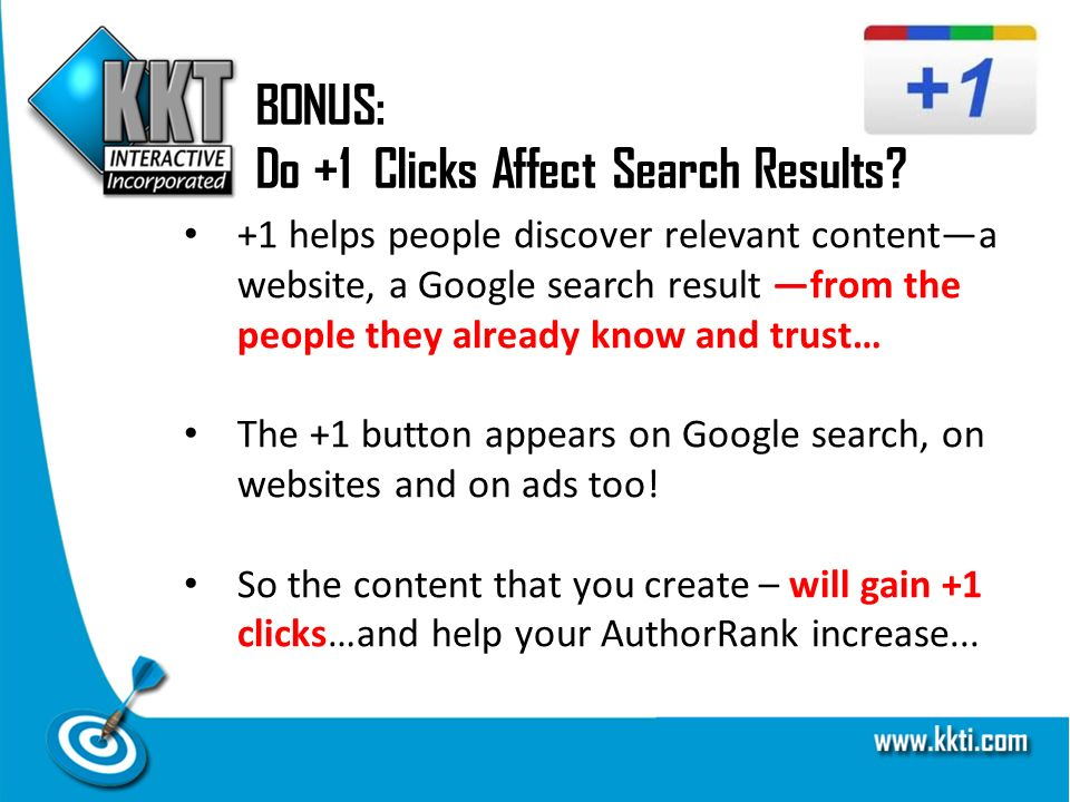 BONUS: Do +1 Clicks Affect Search Results.