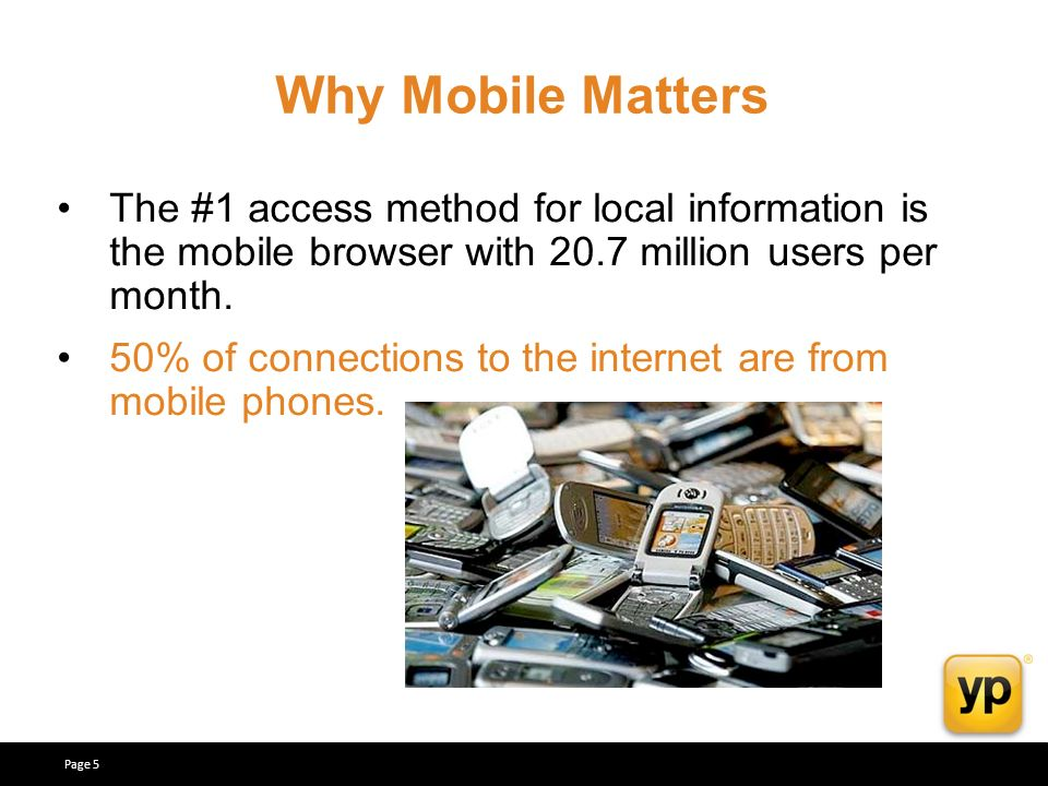 The #1 access method for local information is the mobile browser with 20.7 million users per month.