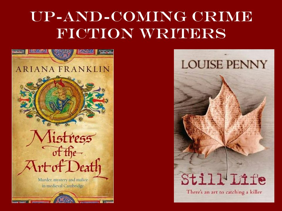 Up-and-Coming crime fiction writers