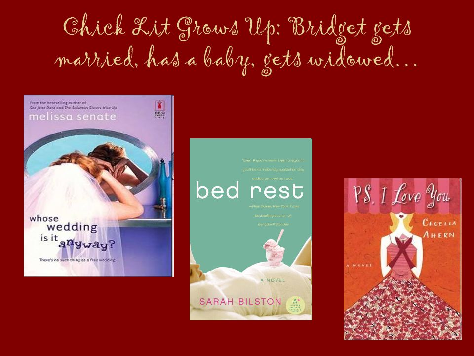 Chick Lit Grows Up: Bridget gets married, has a baby, gets widowed…