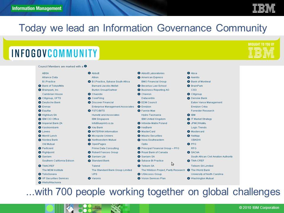 © 2010 IBM Corporation We need Semantic Consistency...to improve enterprise information understanding