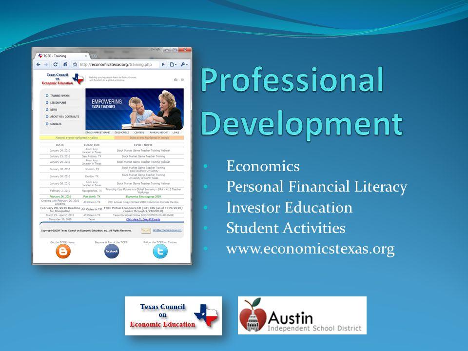 Economics Personal Financial Literacy Investor Education Student Activities www.economicstexas.org