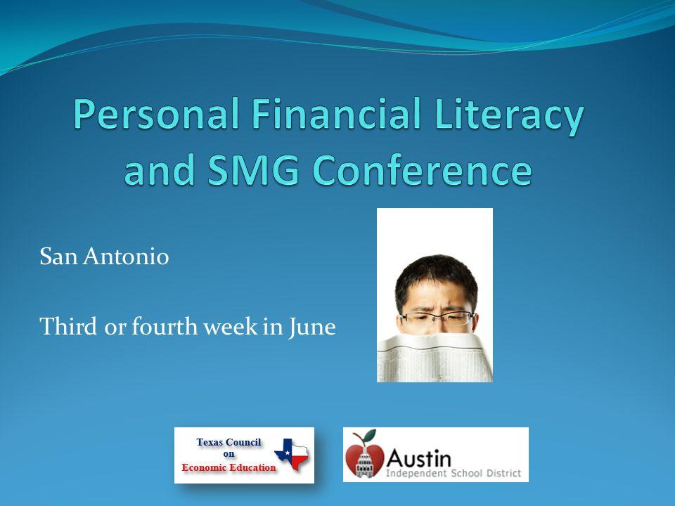 San Antonio Third or fourth week in June