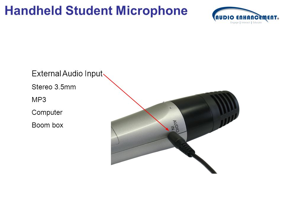 External Audio Input Stereo 3.5mm MP3 Computer Boom box Handheld Student Microphone