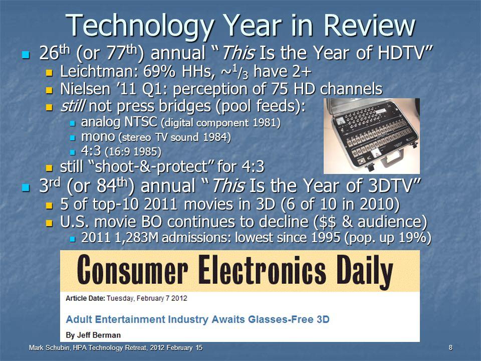 Mark Schubin, HPA Technology Retreat, 2012 February 15 7 The Basics – Part IV Be nice.