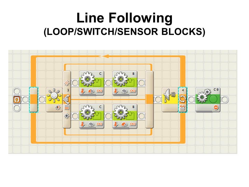 Line Following (LOOP/SWITCH/SENSOR BLOCKS)