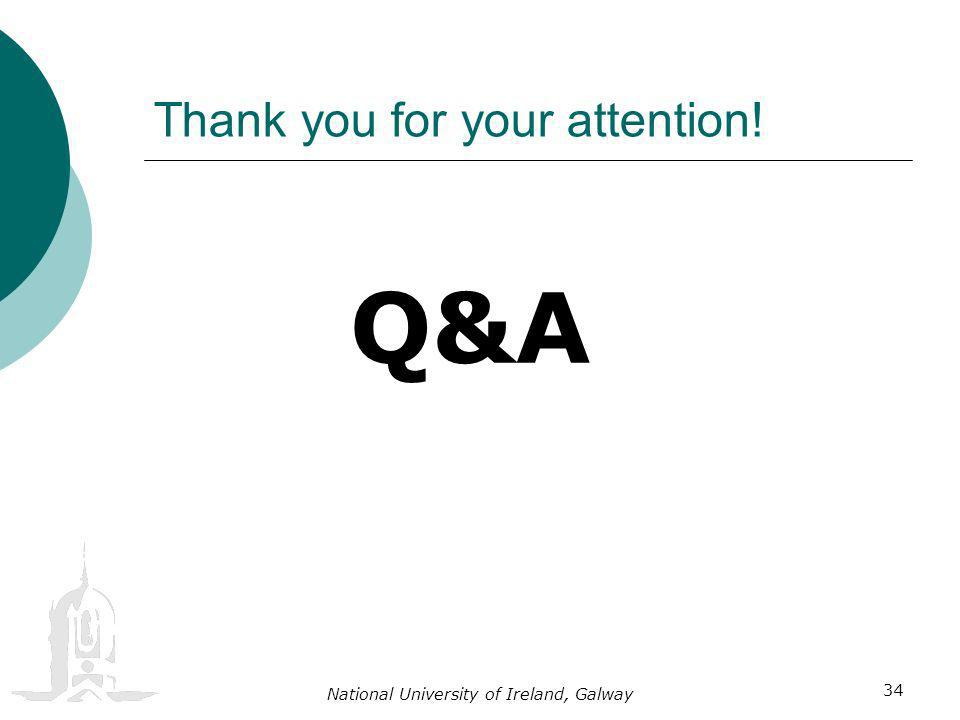 National University of Ireland, Galway 34 Thank you for your attention! Q&A