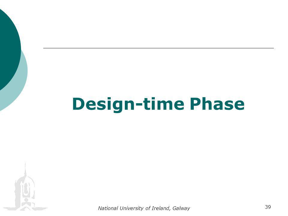 National University of Ireland, Galway 39 Design-time Phase