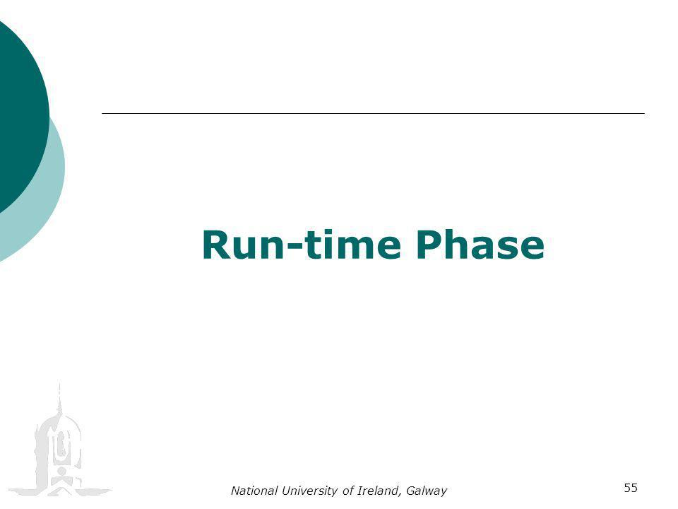 National University of Ireland, Galway 55 Run-time Phase