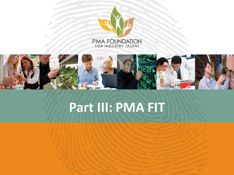 Part III: PMA FIT
