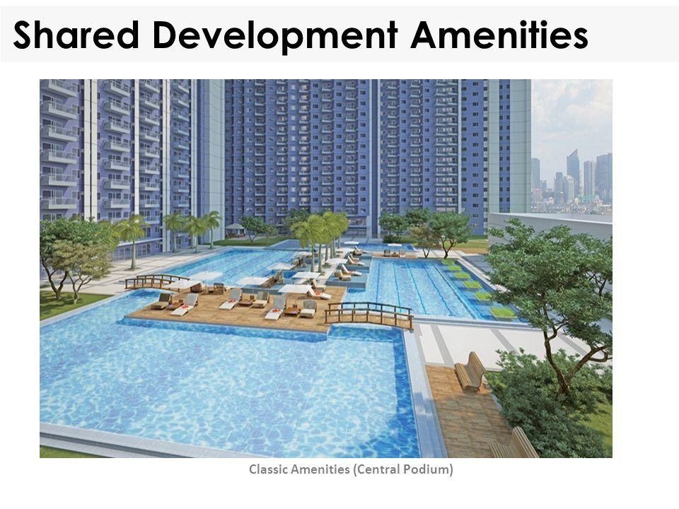 Shared Development Amenities Classic Amenities (Central Podium)