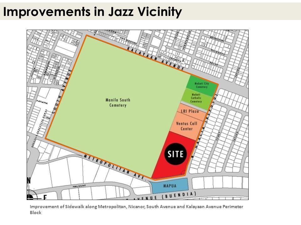 Improvements in Jazz Vicinity Improvement of Sidewalk along Metropolitan, Nicanor, South Avenue and Kalayaan Avenue Perimeter Block