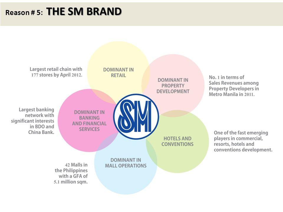 THE SM BRAND Reason # 5: THE SM BRAND