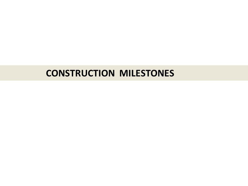 CONSTRUCTION MILESTONES