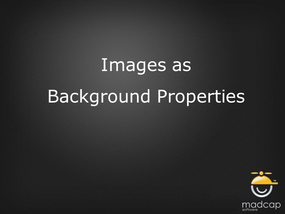 Images as Background Properties