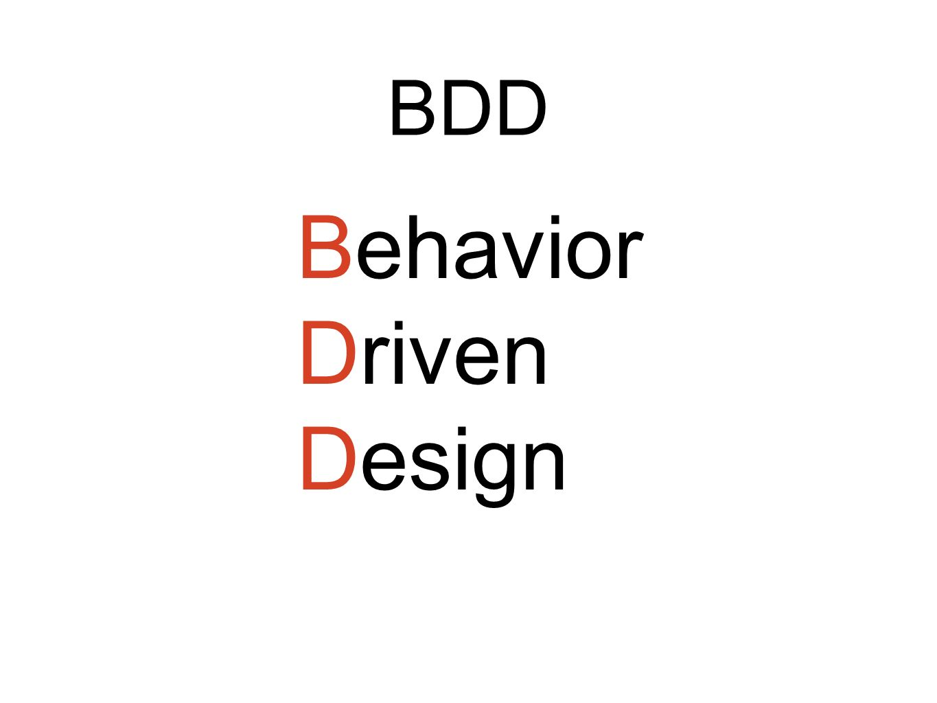 Behavior Driven Design