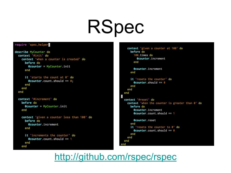 RSpec http://github.com/rspec/rspec
