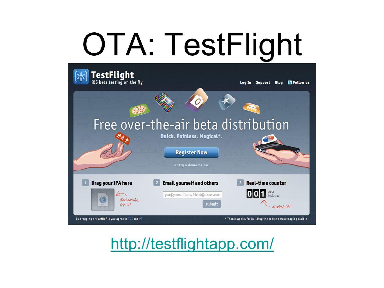 OTA: TestFlight http://testflightapp.com/