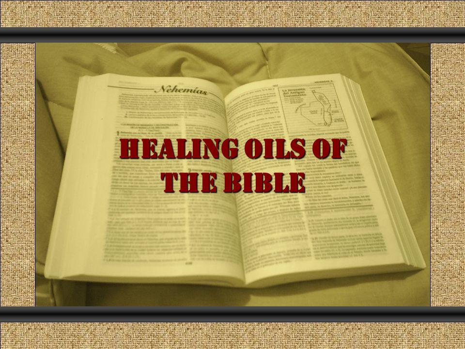 HEALING OILS OF THE BIBLE Comunicación y Gerencia