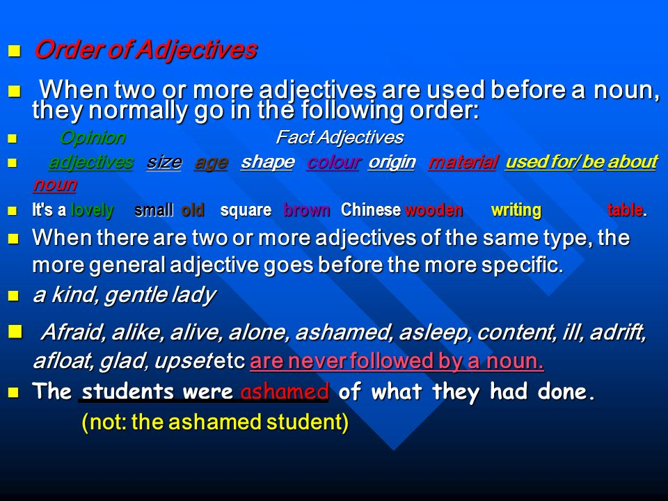 Adjectives Adjectives : Adjectives : Adjectives tell us what something is like. Adjectives tell us what something is like. They are the same in singul