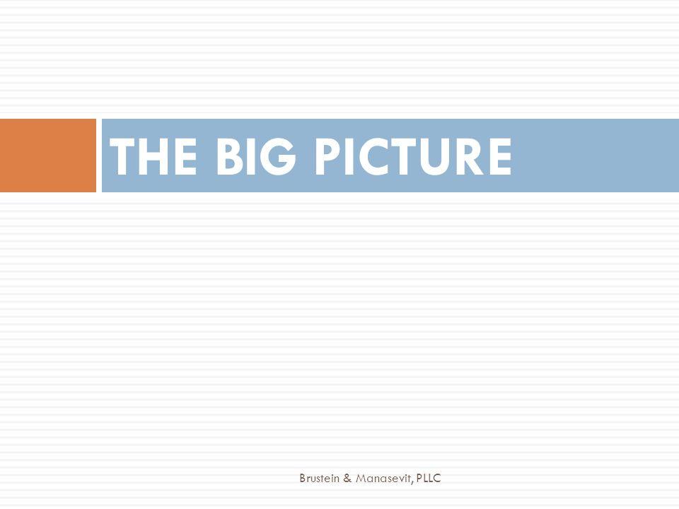 THE BIG PICTURE Brustein & Manasevit, PLLC