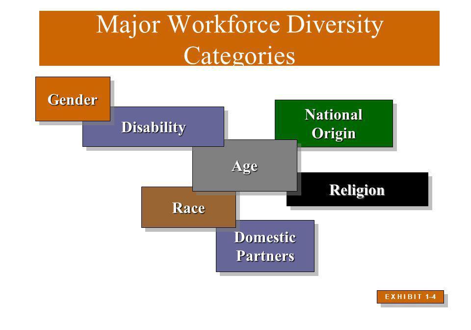 Domestic Partners Domestic Partners Major Workforce Diversity Categories Race Race Religion Religion National Origin National Origin Age Age Disabilit