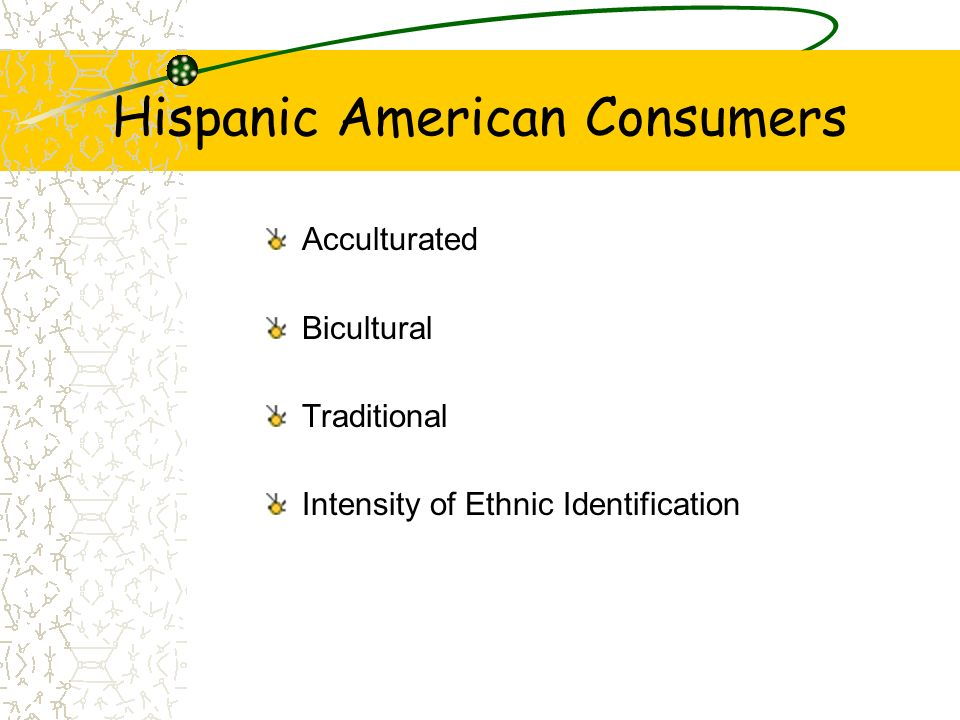 Hispanic American Consumers Acculturated Bicultural Traditional Intensity of Ethnic Identification