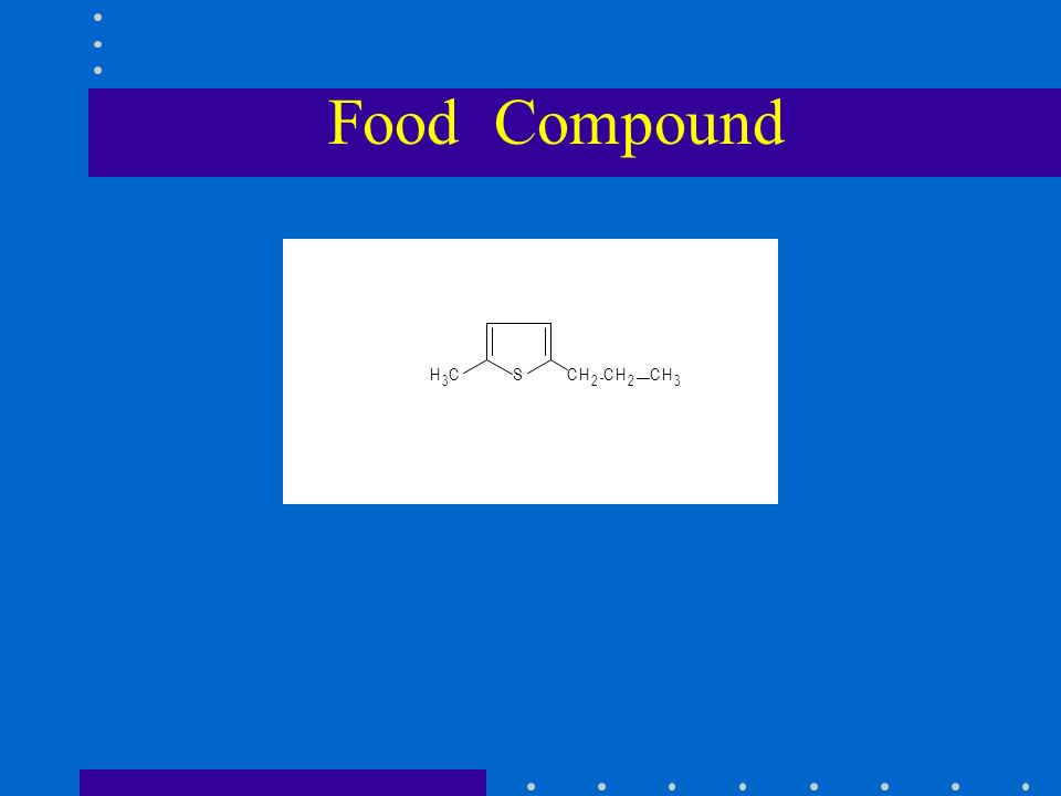 Food Compound SCH 2 CH 2 CH 3 H 3 C