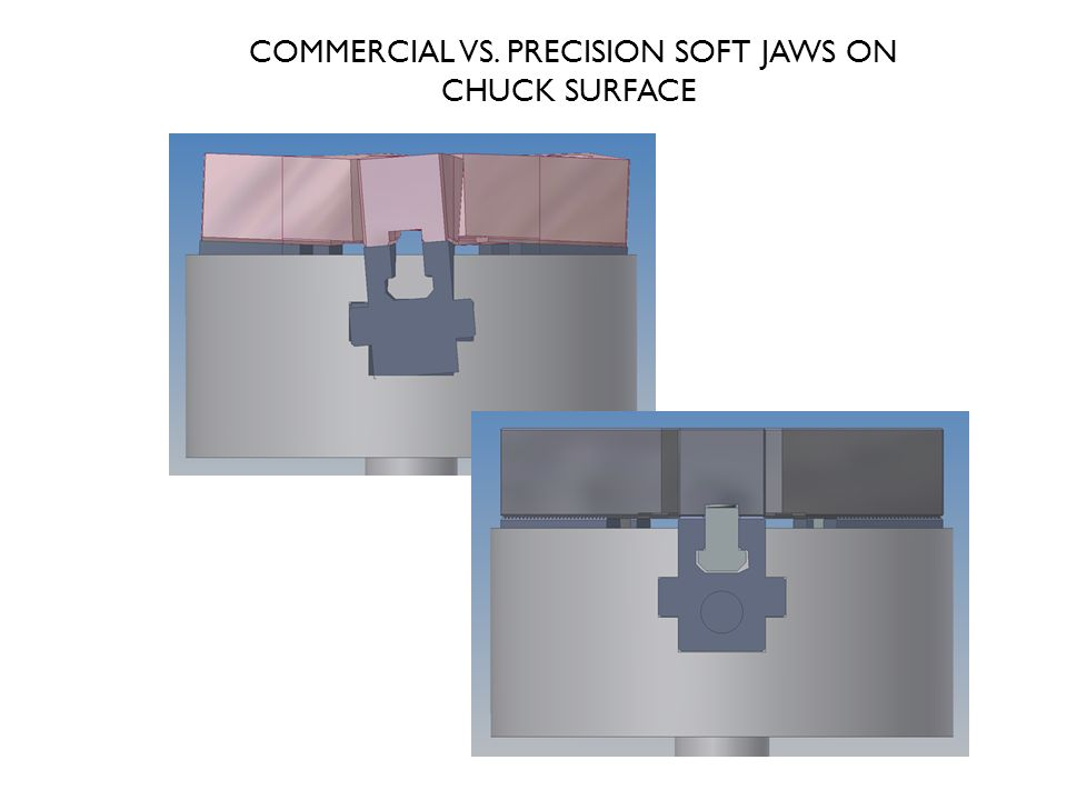 COMMERCIAL VS. PRECISION SOFT JAWS ON CHUCK SURFACE