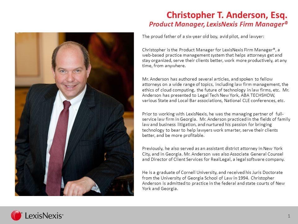 1 Christopher T.Anderson, Esq.