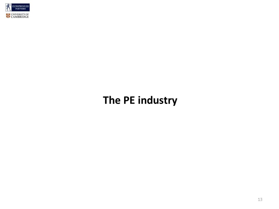 13 The PE industry