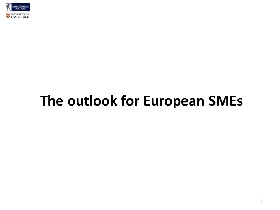 The outlook for European SMEs 3