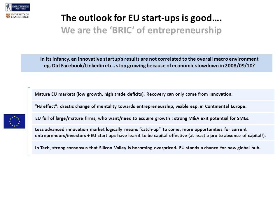 The outlook for EU start-ups is good….esp.