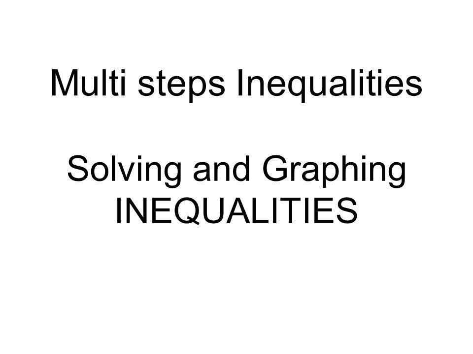 Solving Multi step Inequalities