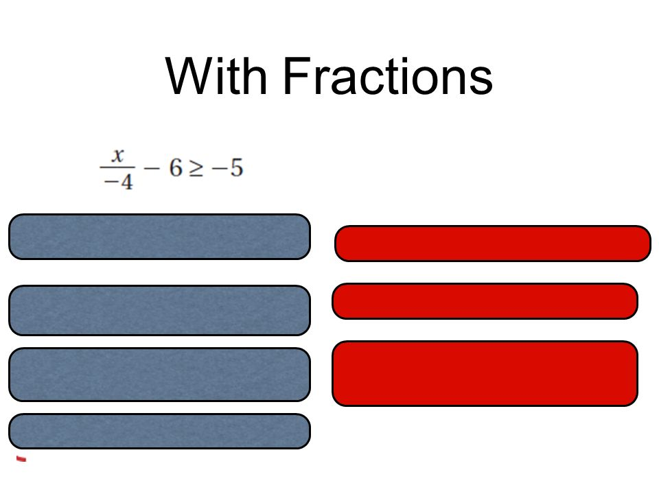 With Fractions